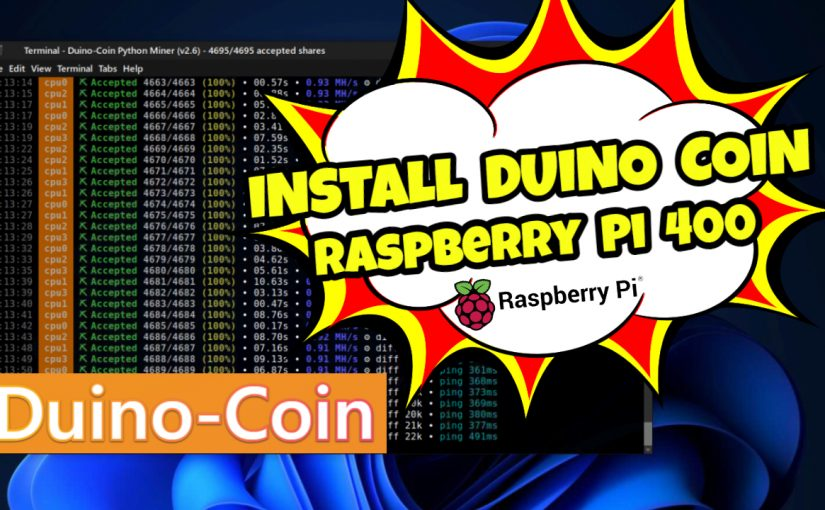 How to Install Duino Coin on Raspberry Pi 400